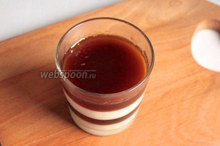 Заполнить, таким образом, креманки до верха. Подавать после застывания последнего слоя. В бокалах или без (опустить на несколько секунд в горячую воду и перевернуть).