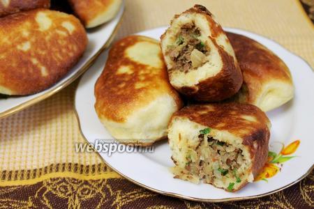 Сочные жареные пирожки с мясом