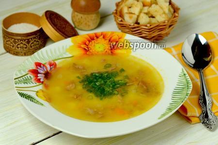 Гороховый суп с копчёными рёбрышками