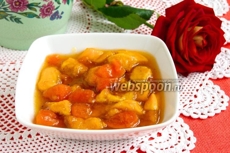 Рецепт Варенье из персиков и кураги