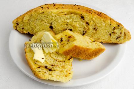 Хлеб можно подать к обеду, на перекус, на пикник.