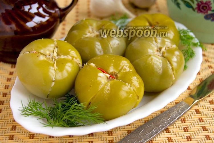 Фото Маринованные зелёные помидоры