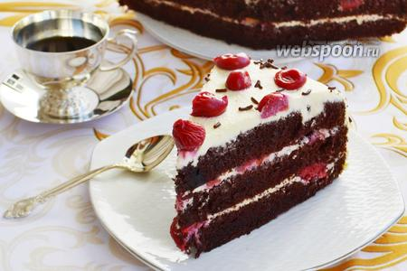 Шифоновый торт с вишнями