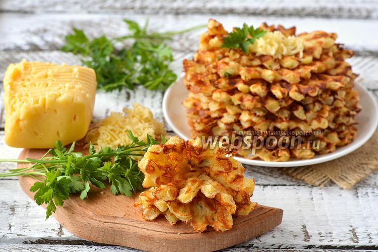 Рецепт Пикантные вафли с курицей