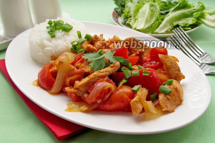 Фото Куриное филе с красным перцем
