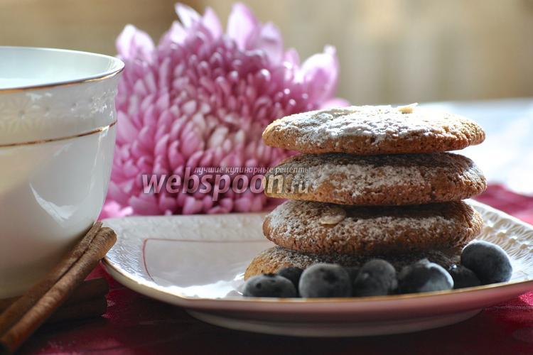 Фото Печенье с шоколадом и миндалём
