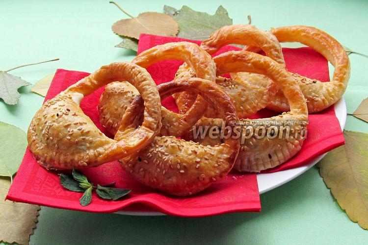 Фото Слоёные пирожки «Сумочки»