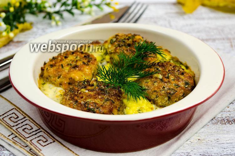 Рецепт Рыбные котлеты с мукой из нута в соусе