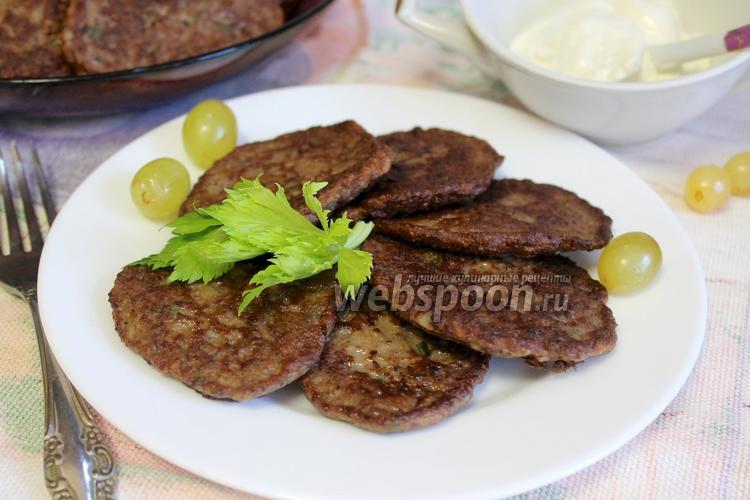 Рецепт Оладьи из куриной печени с зеленью