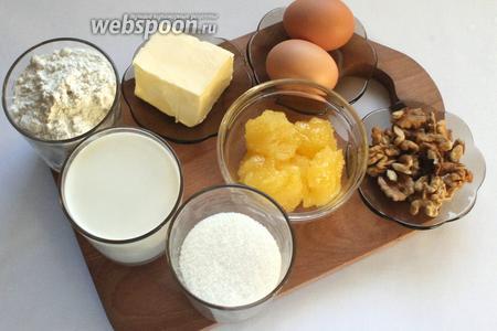 Для приготовления торта понадобятся яйца, мёд, сахар, масло сливочное, мука, сода, молоко, шоколадная глазурь и орехи. И приготовленный  заварной крем .