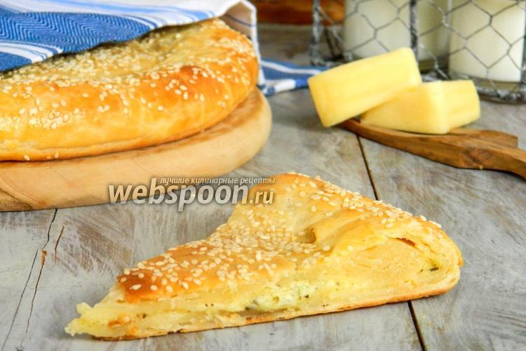 Фото Творожная лепёшка с сыром