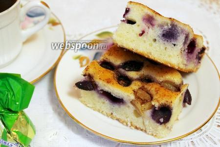 Виноградный пирог с имбирём и корицей