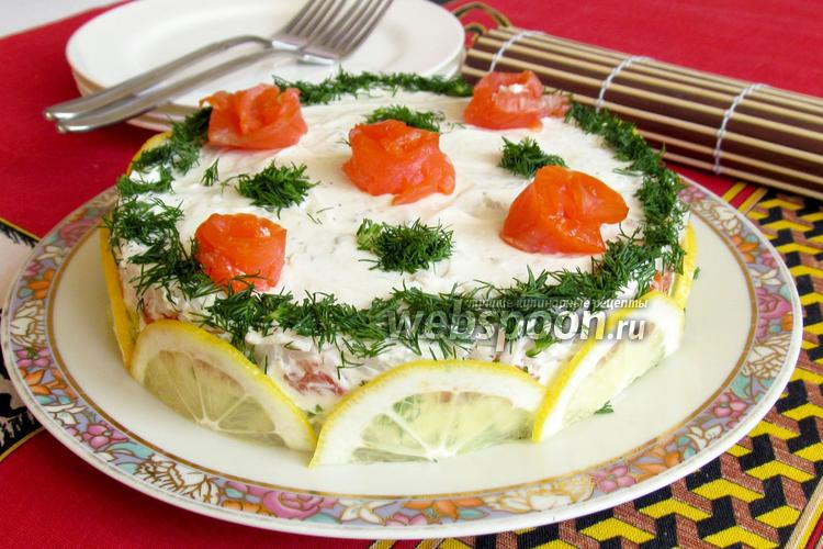 Рецепт Суши торт «Розовый сад»