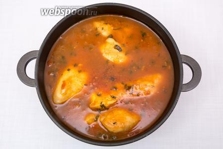 Куриные грудки под соусом «Провансаль» готовы. Подавать как самостоятельное блюдо. Приятного аппетита!