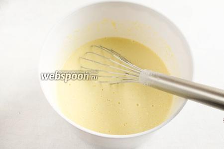 Тесто готово. Оно должно быть достаточно жидким. Отрегулируйте это с помощью добавления молока.