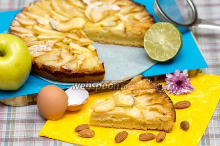 Тарт с яблоками и франжипаном