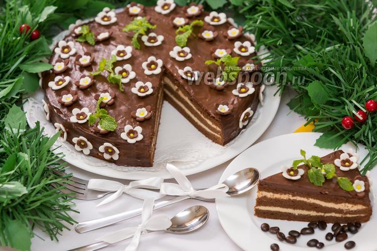 Рецепт Шоколадно-кофейный торт «Капучино»