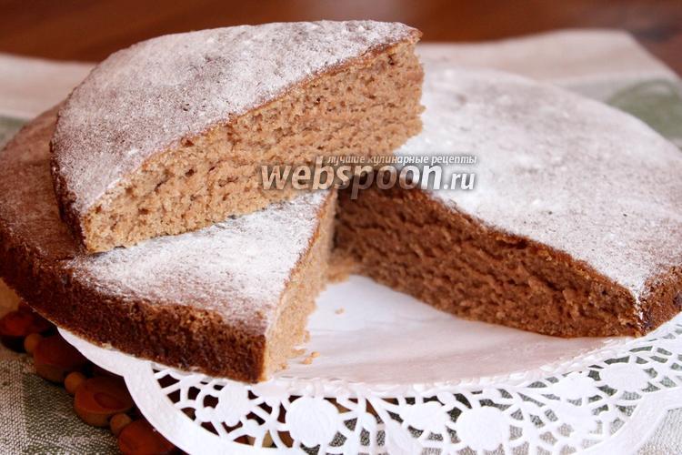Рецепт Шоколадный бисквит без яиц