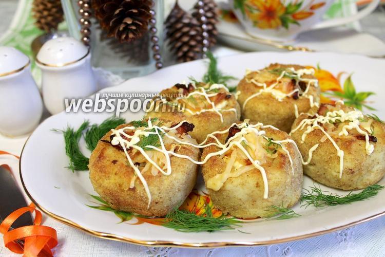 Рецепт Картофельные гнёздышки с лисичками