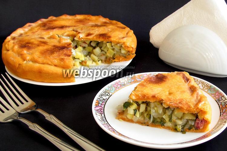 Рецепт Пирог с картофелем на томатном соке