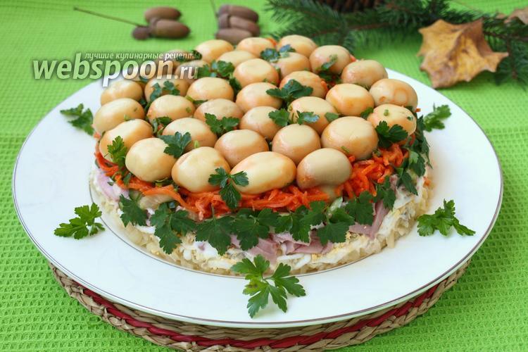 Рецепт Салат «Грибная полянка»