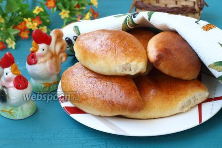 Пирожки с капустой печёные