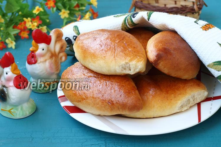 Фото Пирожки с капустой печёные