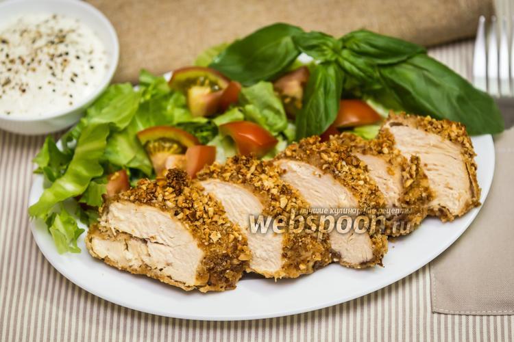 Рецепт Куриные грудки в арахисовой панировке