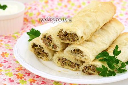 Бривак — марокканские пирожки с мясом