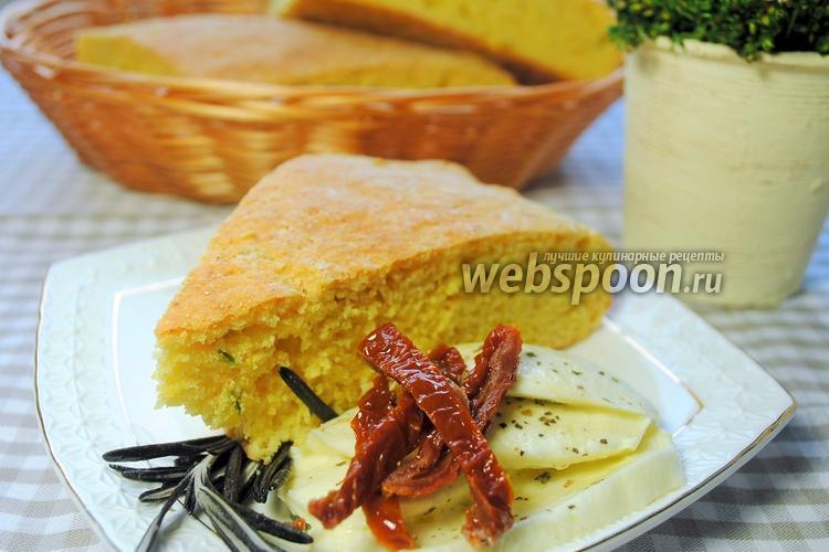 Фото Кукурузный хлеб с зелёным луком