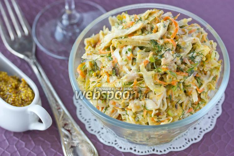 Рецепт Салат с копчёной курицей и лавашом