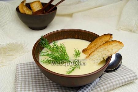 Суп пюре из картошки с сыром