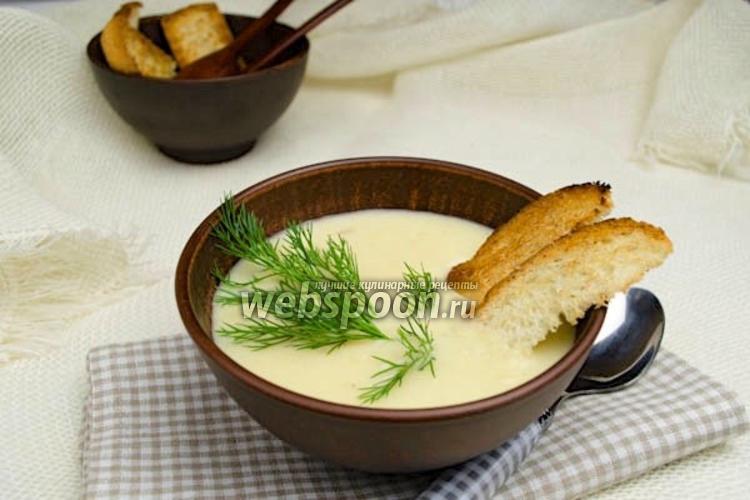 Фото Суп пюре из картошки с сыром