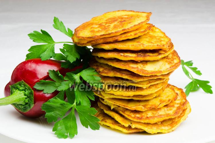Рецепт Оладьи из икры судака с овощами