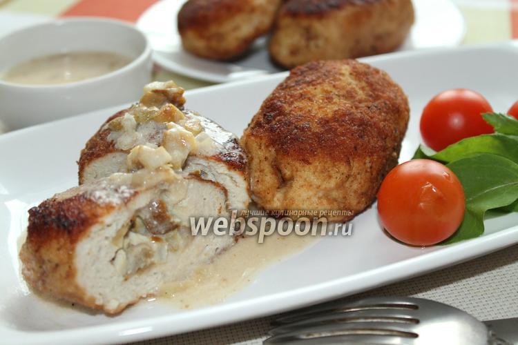 Рецепт Зразы из куриного фарша с грибами