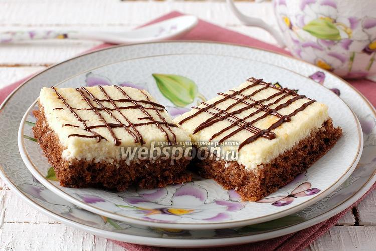 Фото Шоколадно-творожные пирожные