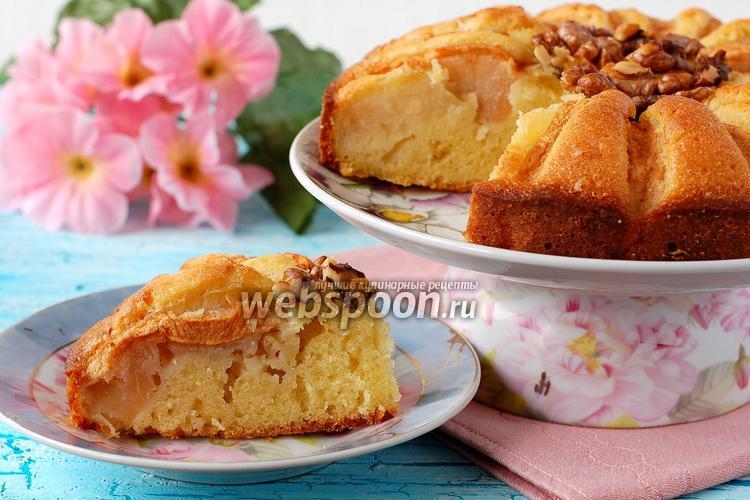 Рецепт Яблочно-ореховый пирог