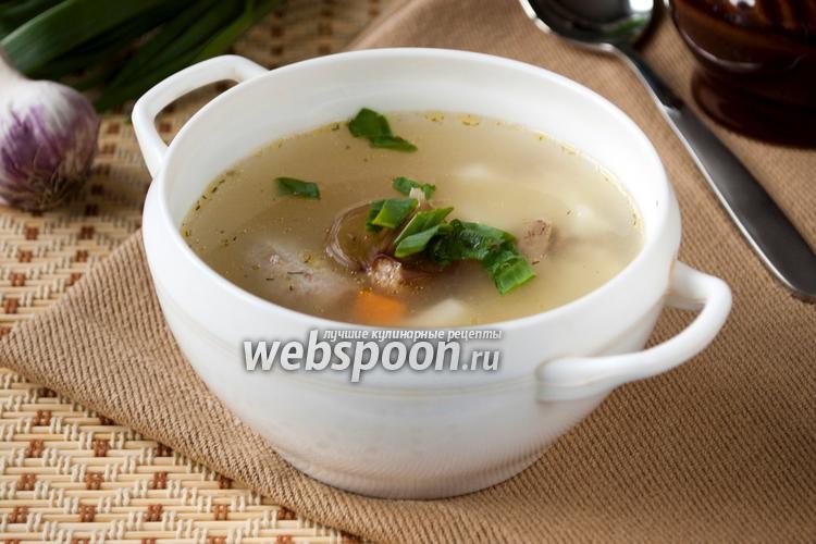 Рецепт Суп из куриных потрошков с пшеном
