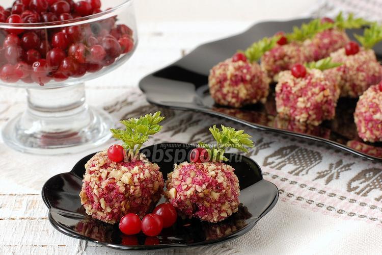 Рецепт Свекольно-ореховые шарики