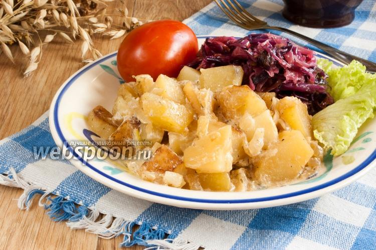 Рецепт Картофель с луком и сметаной