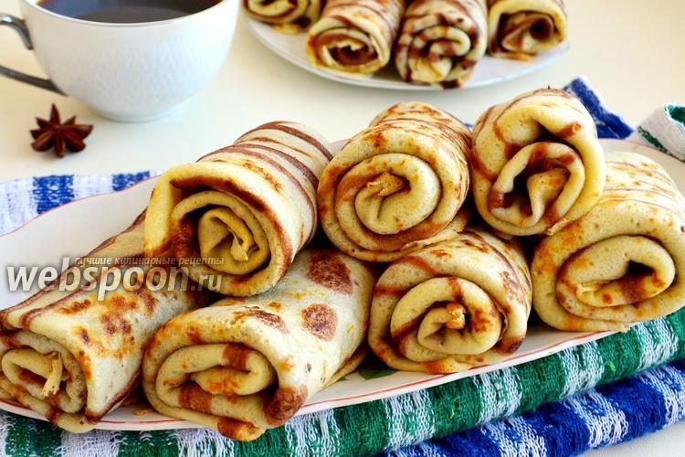 Рецепт Блинчики с бананово-шоколадной пастой