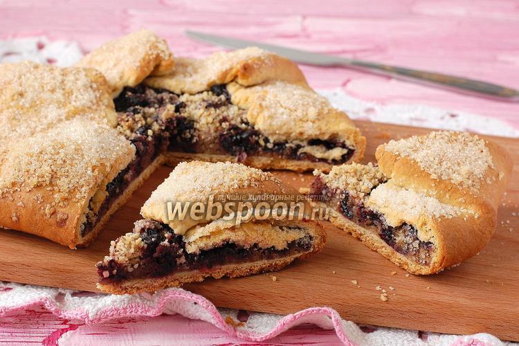Фото Постная ягодно-ореховая галета