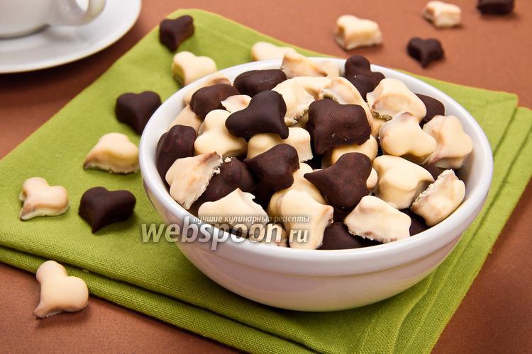 Рецепт Печенье «Шоколадные сердечки»