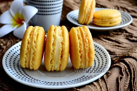 Лимонное печенье macarons