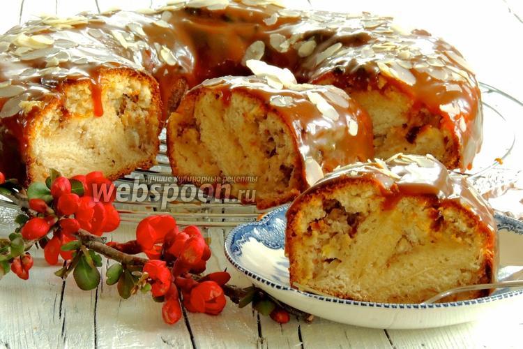 Рецепт Банановый пирог с карамелью
