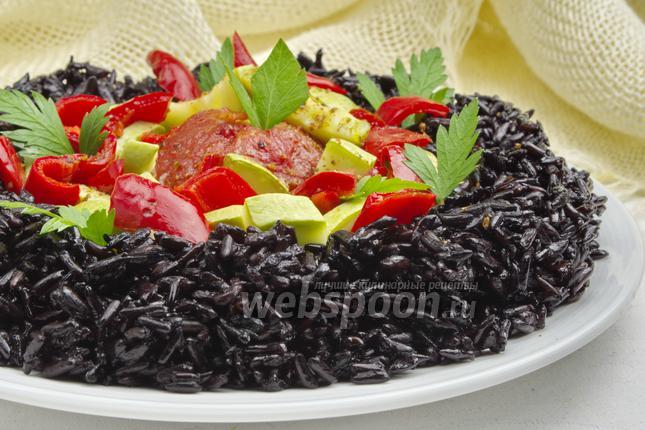 Фото Дикий рис с овощами в мультиварке