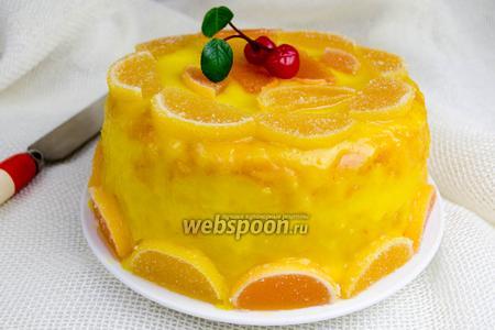 Бисквит с лимонным кремом в мультиварке
