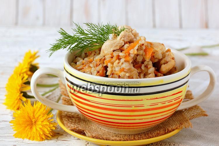 Рецепт Куриное филе с гречкой в мультиварке