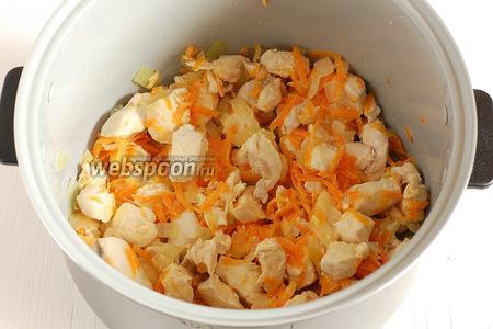 Готовить 15 минут в режиме «Выпечка» при открытой крышке При готовке 1-2 раза помешать блюдо.