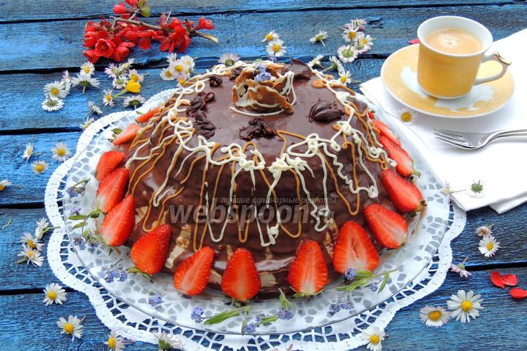 Рецепт Торт «Французский крепвиль»